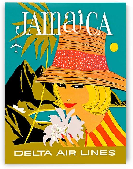 Vintage Jamaica Delta Airlines Poster by VINTAGE POSTER