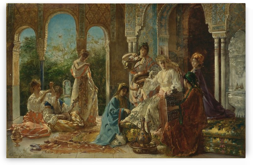 Attending the favorite by Edouard Frederic Wilhelm Richter