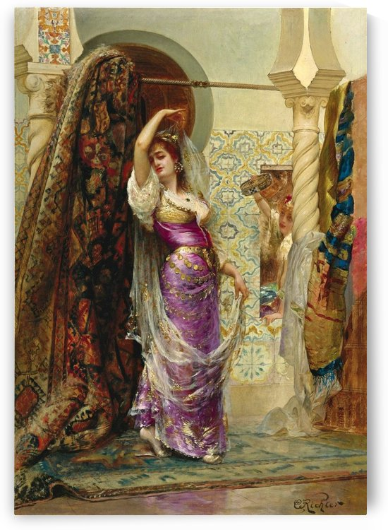 Preparing for the performance by Edouard Frederic Wilhelm Richter