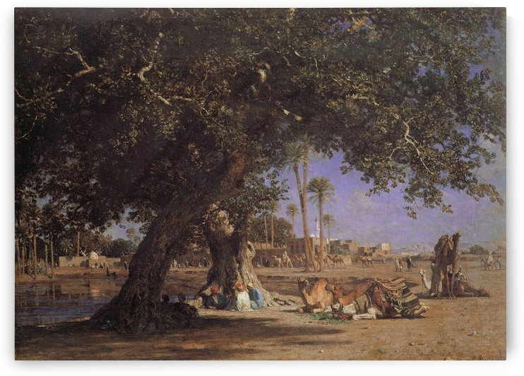 View of Shubra by Leon Auguste Adolphe Belly
