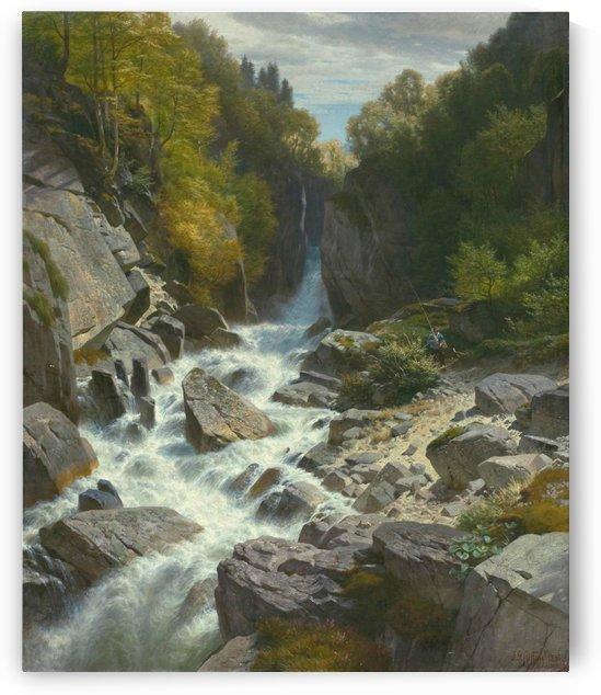 Chasm at the Lontschbach, near Glarus by Johann Gottfried Steffan