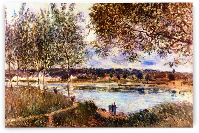 The Path to the Old Ferry, 1880 by Sisley by Sisley