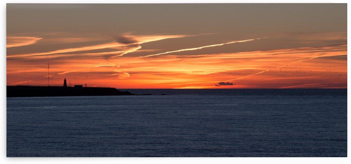 Orange Skies by Michel Soucy