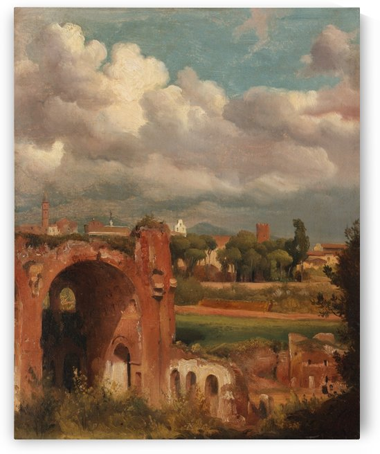 View of the Basilica of Constantine from the Palatine, Rome by Auguste-Xavier Leprince