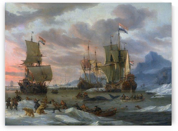 Walvisvangst by Abraham Storck
