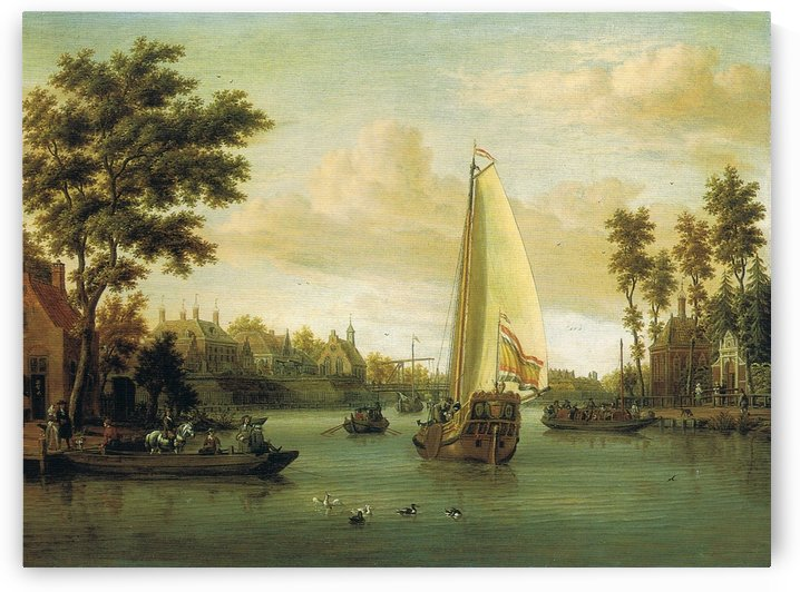 View of Maarsen on the Vecht by Abraham Storck