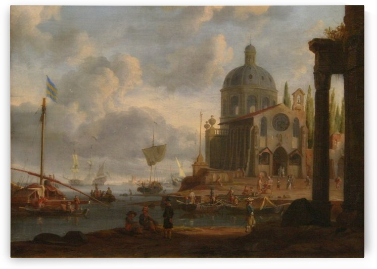 Sea port by Abraham Storck