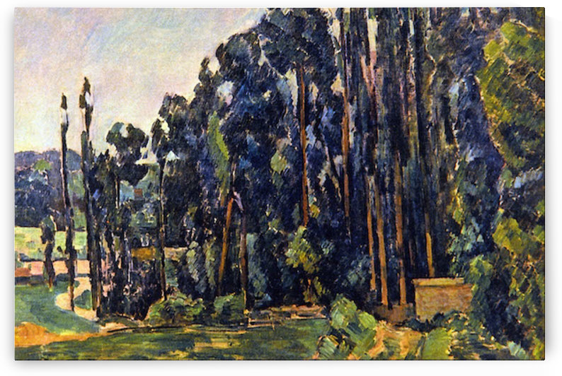 The Poplars by Cezanne by Cezanne