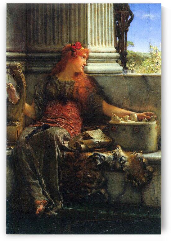 Poesie by Alma-Tadema by Alma-Tadema