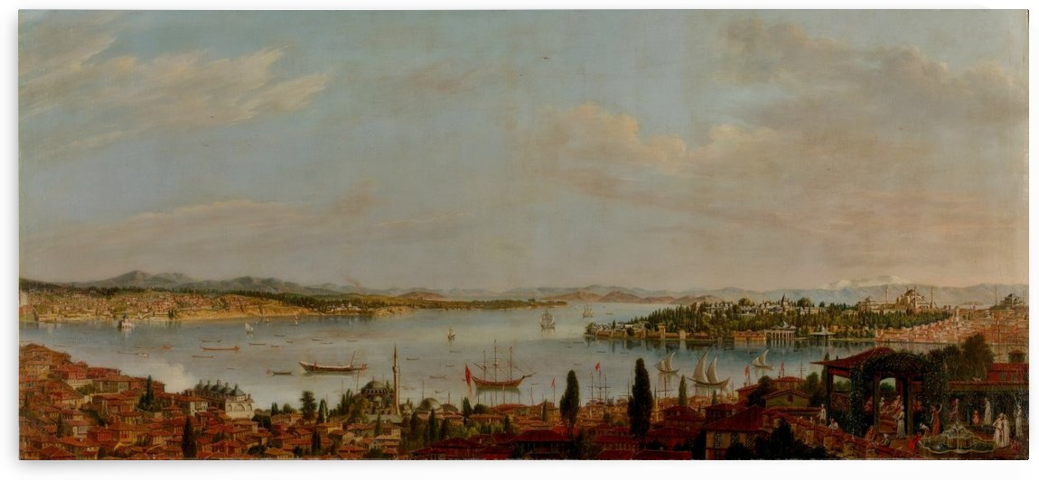Panorama of Istanbul by Antoine de Favray