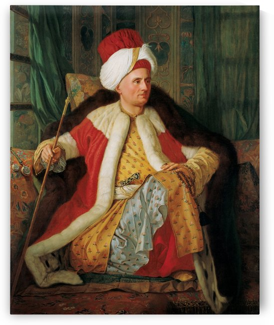 Portrait of Charles Gravier Count of Vergennes and French Ambassador in Turkish Attire by Antoine de Favray