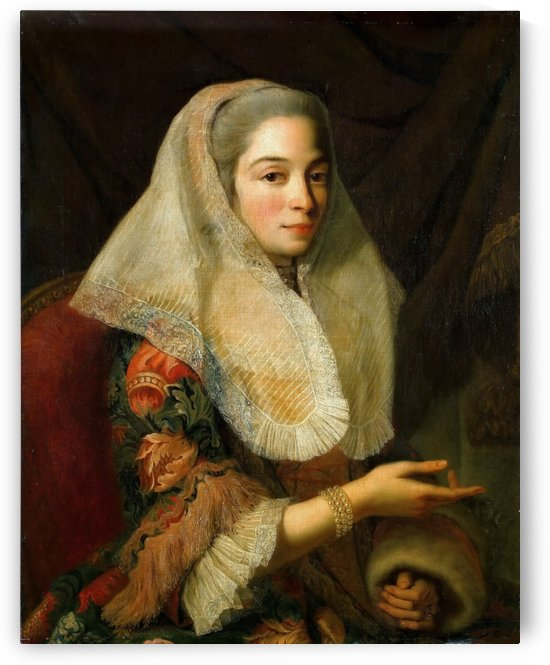 Portrait of a young Maltese woman by Antoine de Favray