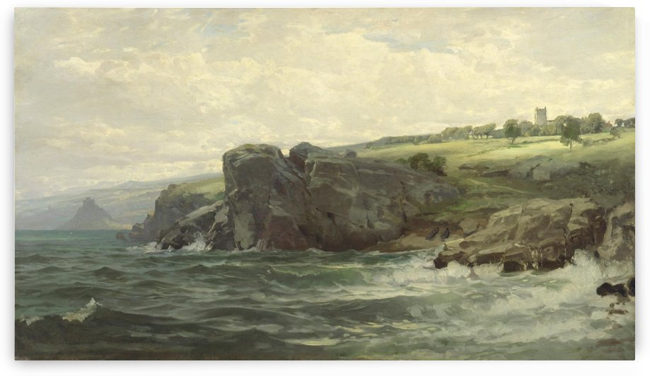Tower on the Cornish Coast by William Trost Richards