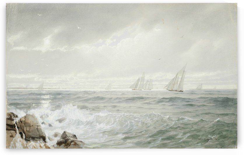Yachts off Newport, 1877 by William Trost Richards