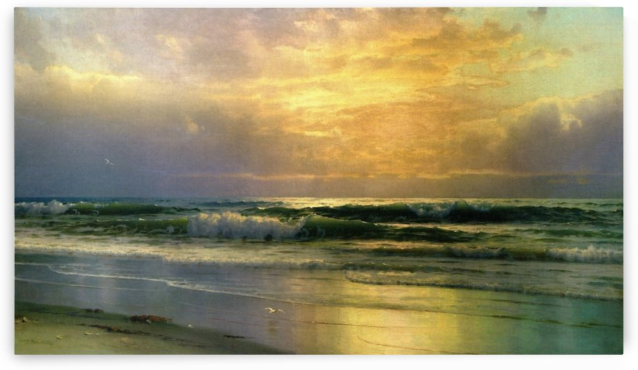 Coastal scene at sunset by William Trost Richards