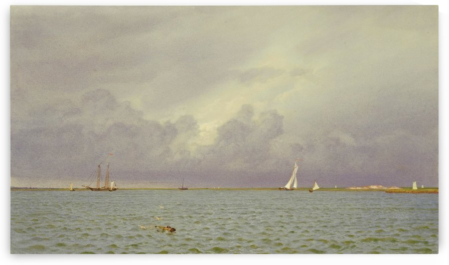 Marine with Yachts by William Trost Richards
