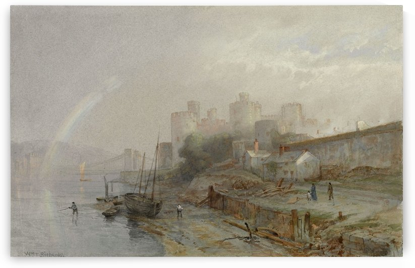 Conway Castle Wales by William Trost Richards