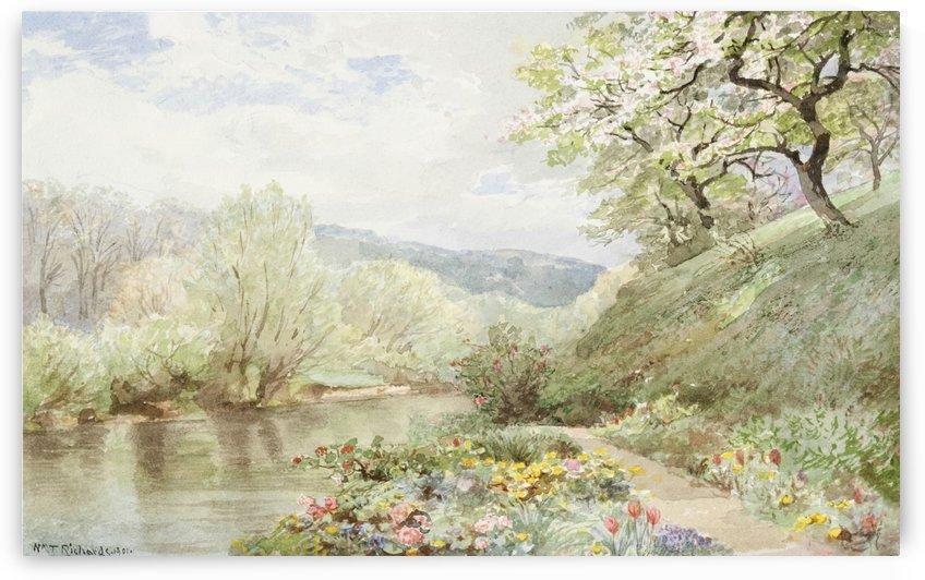 Fidelia Bridges Garden by William Trost Richards