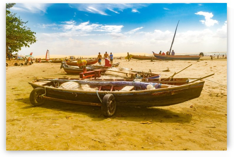 Boats at Sand at Beach of Jericoacoara Brazil by Daniel Ferreia Leites Ciccarino
