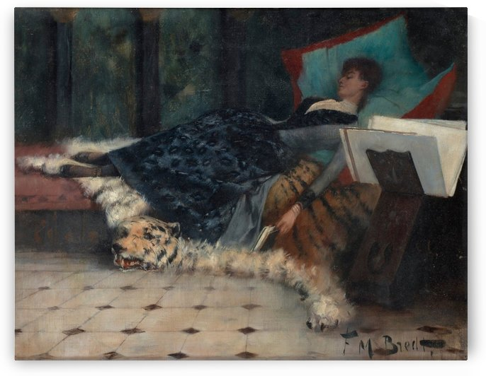 Woman resting by Ferdinand Max Bredt