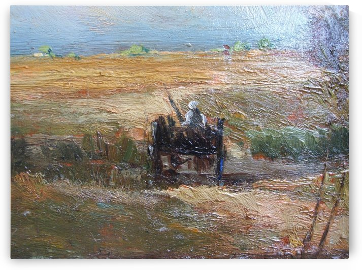 Woman in the field by Jean Charles Cazin