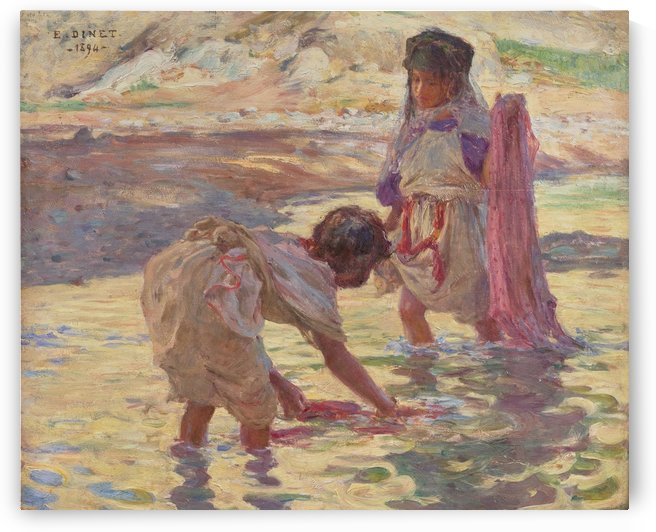 Children playing in the water by Edward Henry Potthast