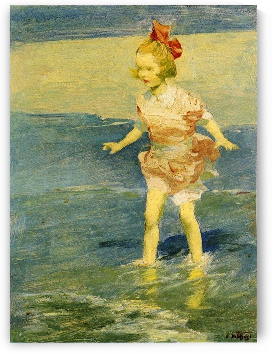 In the Surf by Edward Henry Potthast