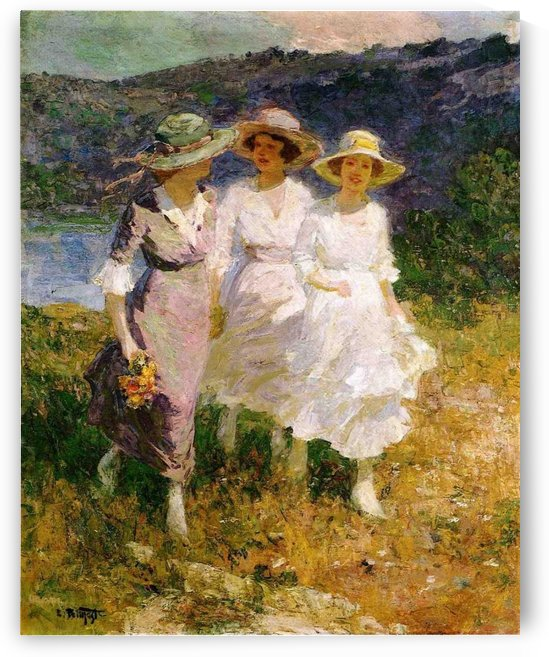 Walking in the Hills by Edward Henry Potthast