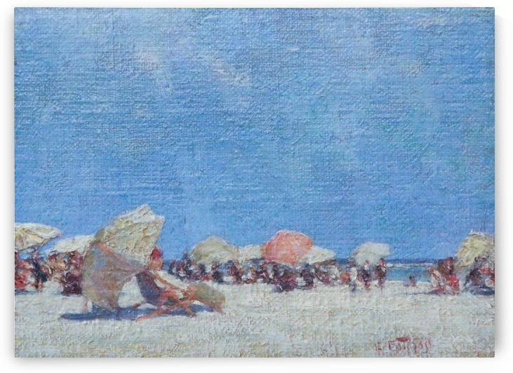 People on the beach by Edward Henry Potthast