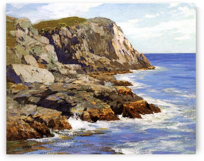 Cliffs and the sea landscape by Edward Henry Potthast
