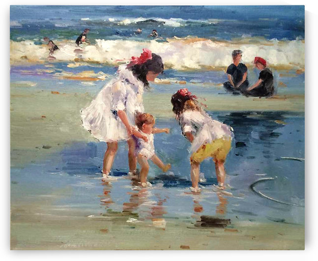 Girls playing in the water by Edward Henry Potthast