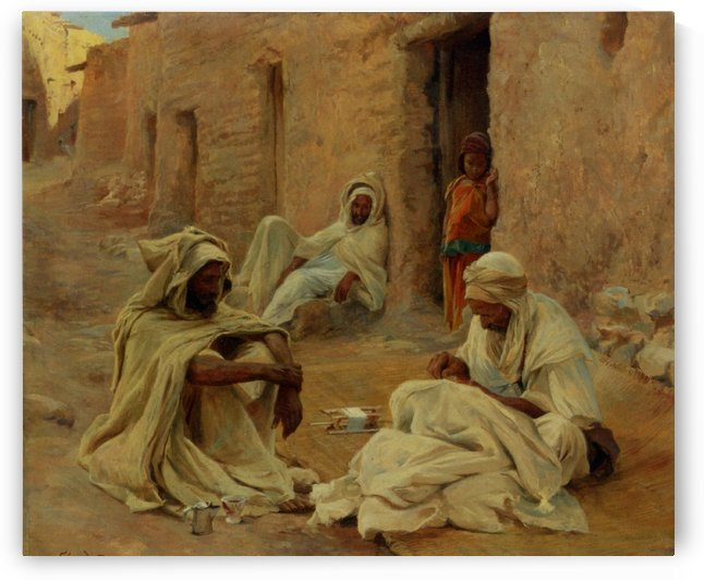 Street and market genre by Eugene Alexis Girardet