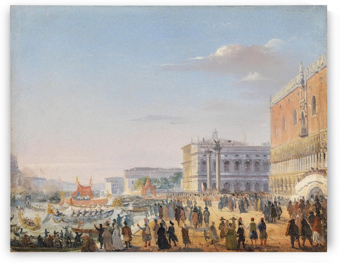 Arrival of Franz Joseph and Elisabeth in Venice by Ippolito Caffi
