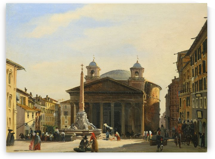 The Pantheon, Rome by Ippolito Caffi