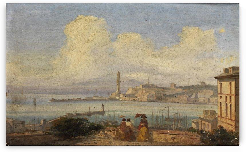 Bucht von Neapel 1855 by Ippolito Caffi