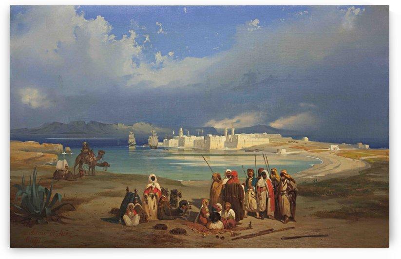 Istmo di Suez by Ippolito Caffi