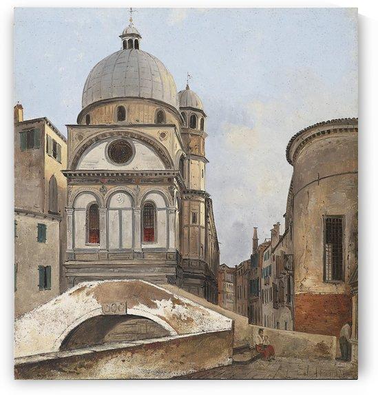 Santa Maria dei Miracole e Santa Maria Nova by Ippolito Caffi