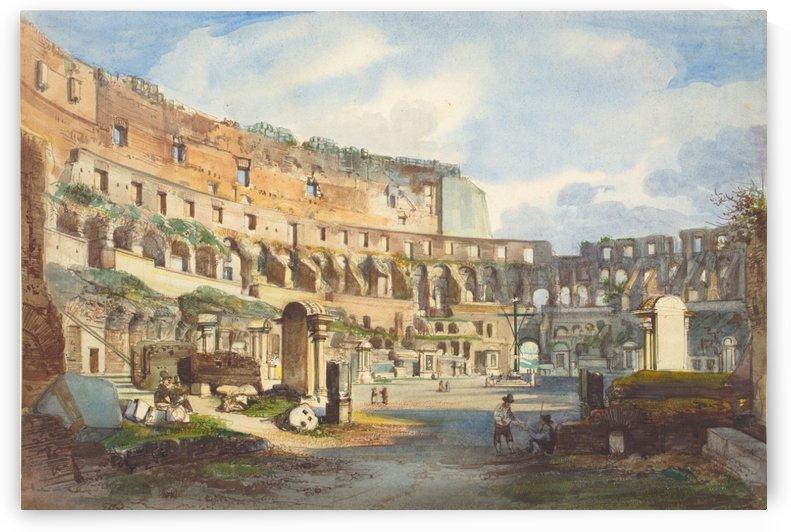 Colosseum, Rome by Ippolito Caffi