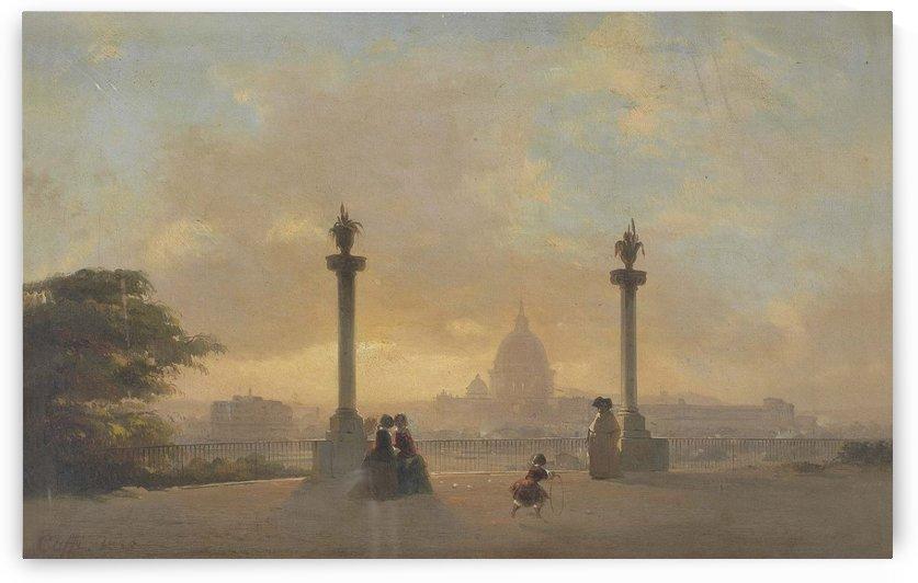 Veduta di Roma dal Pincio, 1855 by Ippolito Caffi