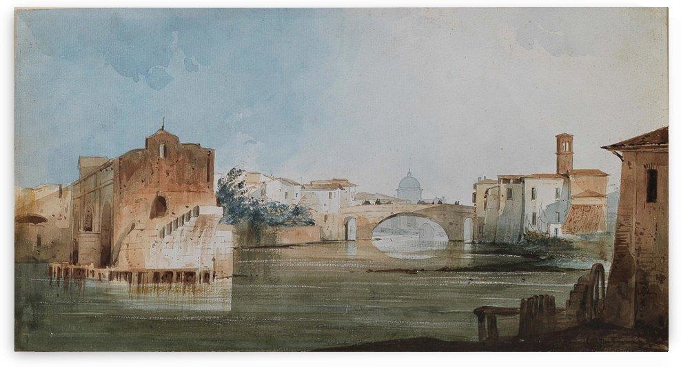 Ponte Rotto by Ippolito Caffi