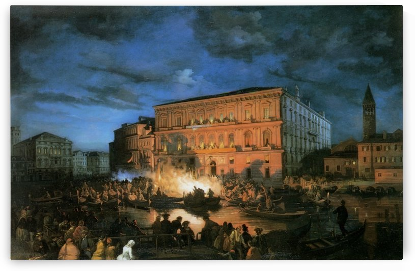 Festa a Venezia by Ippolito Caffi