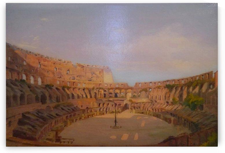 Interior of the Colosseum, 1857 by Ippolito Caffi