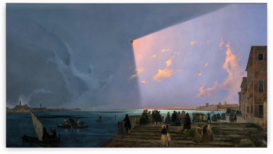 Eclissi di sole a Venezia by Ippolito Caffi