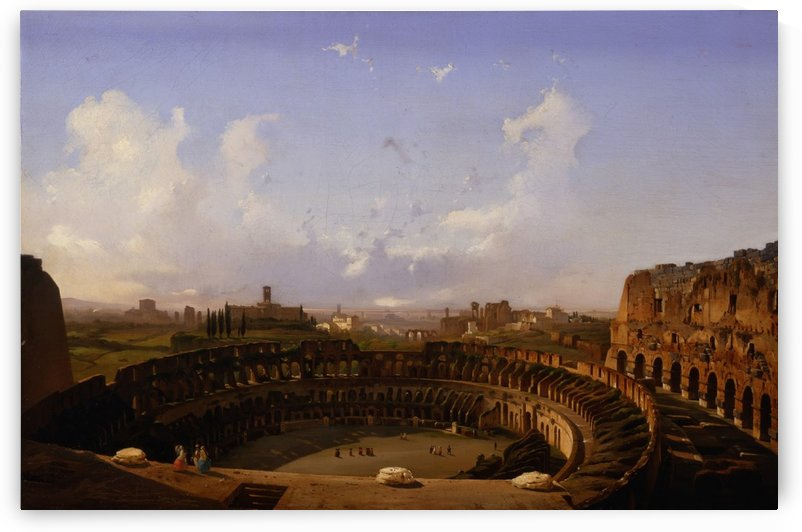 Roma, Interno del Colosseo, 1855 by Ippolito Caffi