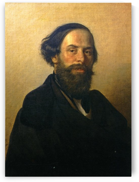 Portrait of Ippolito Caffi by Ippolito Caffi