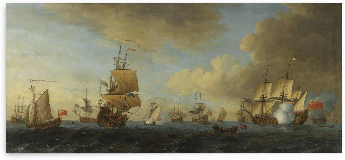 An English frigate under sail firing a gun by John Cleveley the Elder