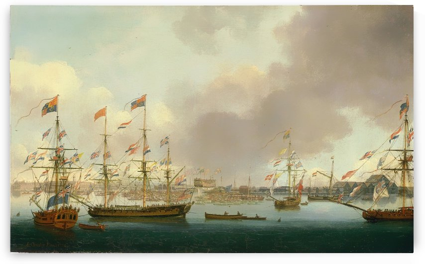Launch of HMS Alexander at Deptford in 1778 by John Cleveley the Elder
