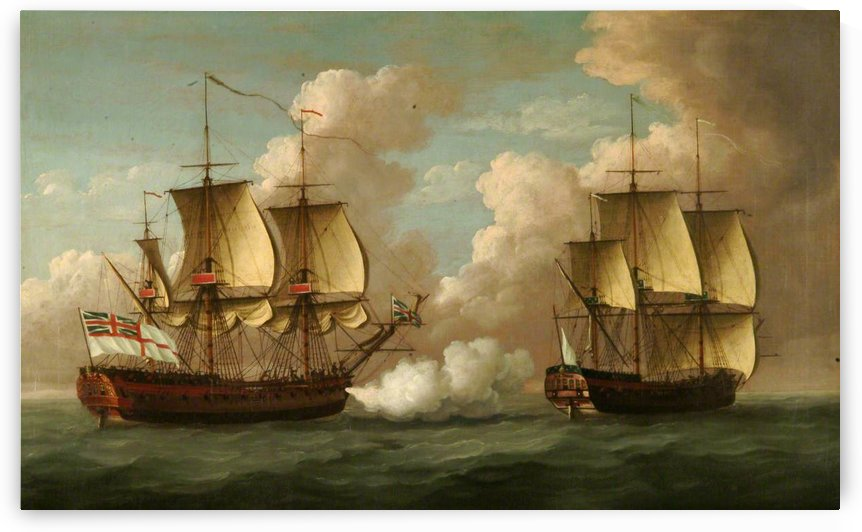 Captures French Ship 'L'oiseau by John Cleveley the Elder