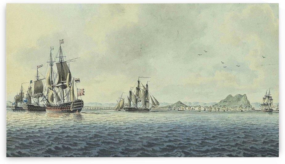 British Fleet off Gibraltar by John Cleveley the Elder