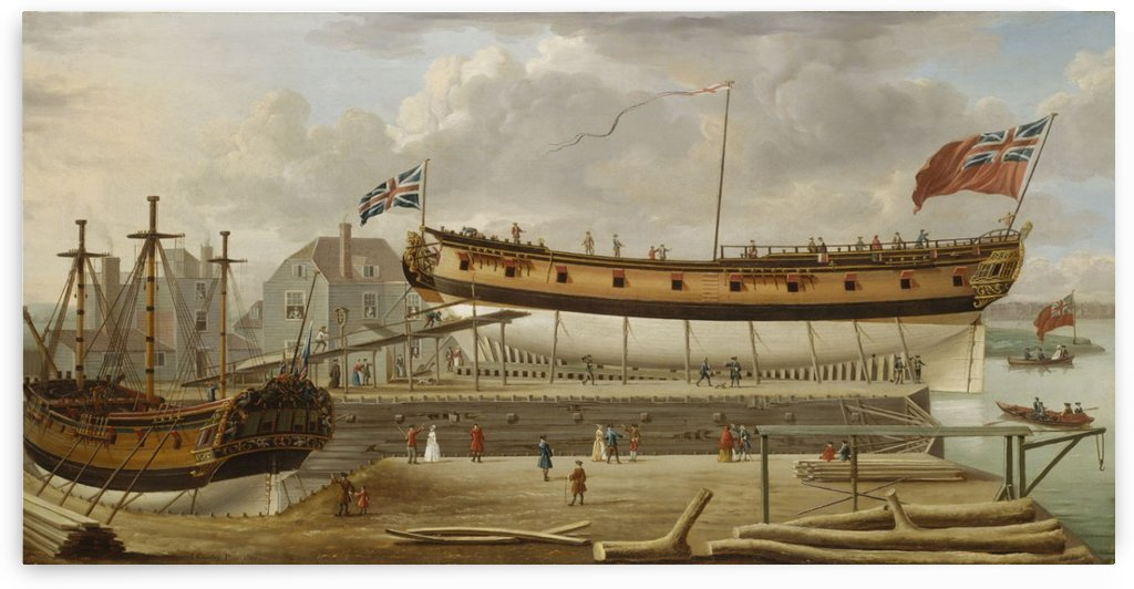 A Sixth Rate on th Stocks by John Cleveley the Elder